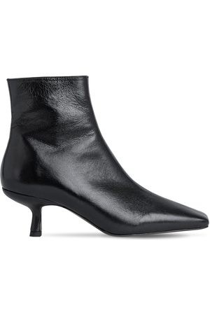By Far 50mm Lange Creased Leather Ankle Boots