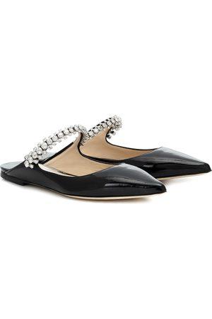 Jimmy Choo Bing Flat patent leather mules