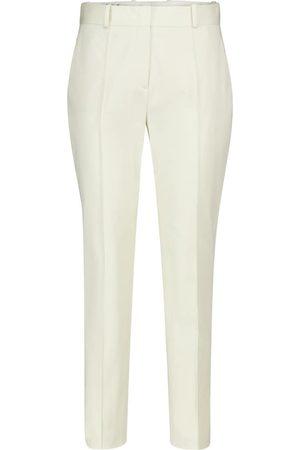 Loro Piana Derk high-rise tapered stretch-cotton pants
