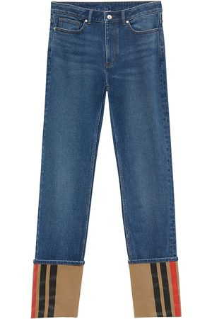 Burberry Dame Straight - Turn-up straight-leg jeans