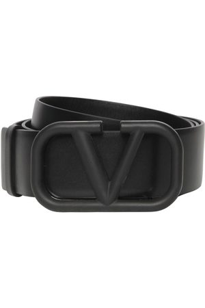 VALENTINO GARAVANI 4cm V Buckle Leather Belt