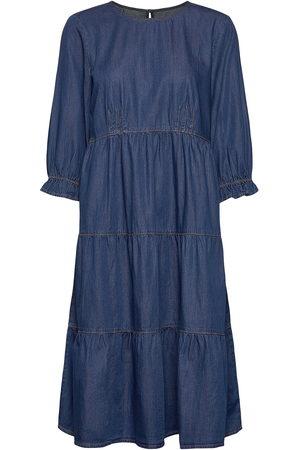 Cream Dame Jeanskjoler - Crmaj Denim Dress Knelang Kjole