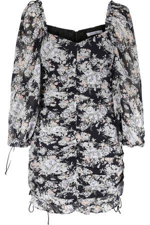 Kayani Dame Festkjoler - Varity Ruffle Mini Dress Midnight Flower