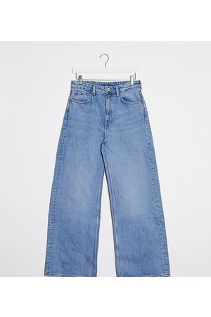 Weekday Dame Wide Leg - Wide leg jeans with organic cotton in blue