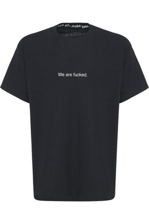 F.A.M.T. We Are Fucked Printed Cotton T-shirt