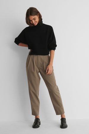 NA-KD Dame Chinos - Dressbukser Med Dyp Plissering
