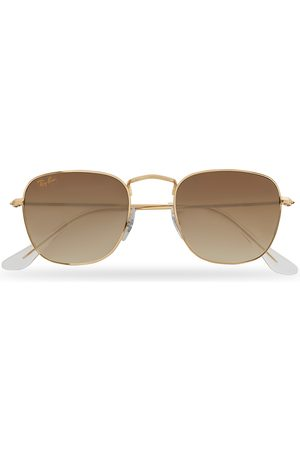 Ray-Ban Herre Solbriller - RB3857 Frank Sunglasses Gold/Gradient Brown