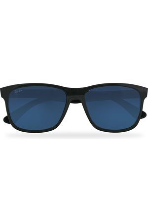 Ray-Ban Herre Solbriller - RB4181 Sunglasses Shiny Black/Blue