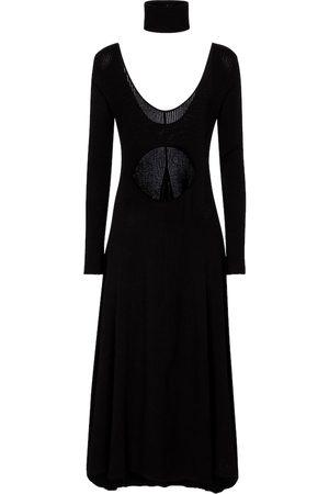 Zeynep Arcay Cut-out ribbed-knit midi dress
