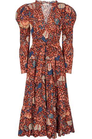 ULLA JOHNSON Nanette floral cotton midi dress