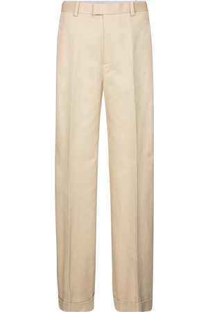Bottega Veneta High-rise wide-leg cotton pants