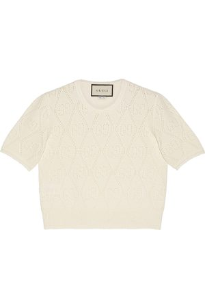 Gucci GG perforated wool top