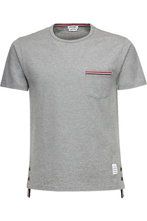 Thom Browne Striped Pocket Cotton Jersey T-shirt