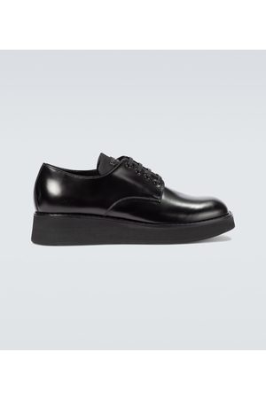 Prada Leather platform derby shoes