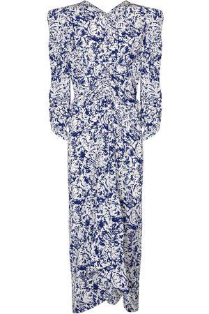 Isabel Marant Albi printed stretch-silk midi dress