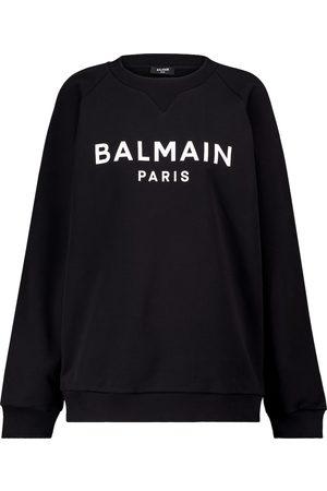 Balmain Logo cotton jersey sweatshirt