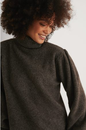 NA-KD Dame Pologensere - Wool Blend Knitted Polo Neck Sweater