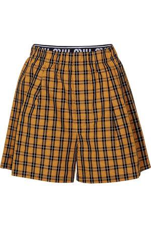 Miu Miu Checked cotton shorts