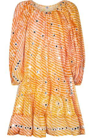 Juliet Dunn Sequined off-shoulder minidress