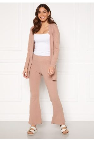 Pieces Pam MW Flared Pant Warm Taupe XL