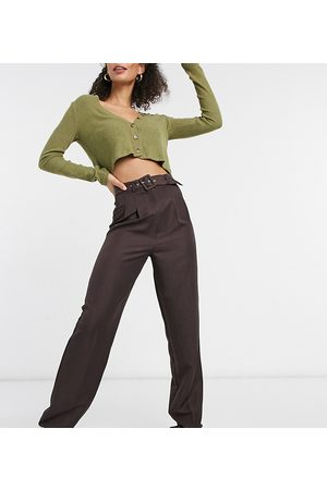 ASOS ASOS DESIGN Tall belted slouchy dad trouser in brown