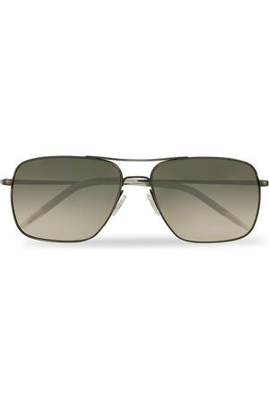 Oliver Peoples Herre Solbriller - Clifton Sunglasses Antique Pewter/Shale Gradient