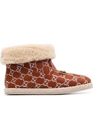 Gucci Horsebit GG lamé ankle boots
