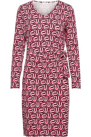 Gerry Weber Dame Midikjoler - Dress Knitted Fabric Knelang Kjole Rød