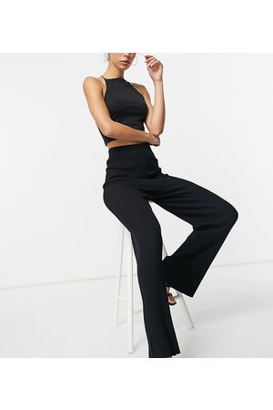 4th & Reckless Tall Knitted wide leg trouser in black
