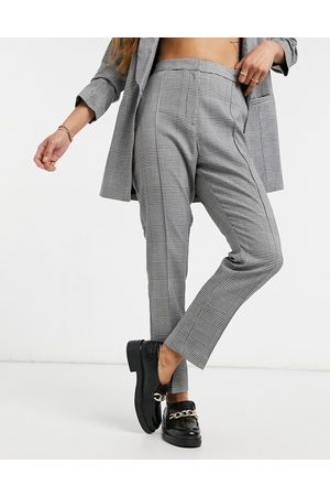 ASOS Tailored smart mix & match cigarette suit trousers in mono check-Multi