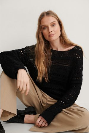 NA-KD Dame Strikkegensere - Slouchy Knitted Sweater