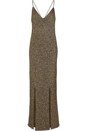 Ganni Stretch-knit slip dress