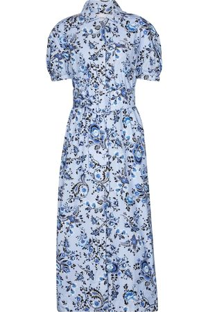 Erdem Frederick cotton poplin midi dress