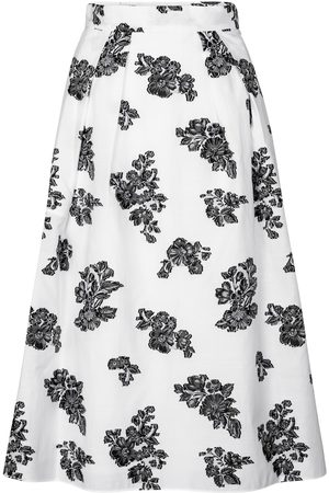 Erdem Reed cotton-blend midi skirt