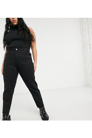 Wednesday's Girl Mom jeans in black wash