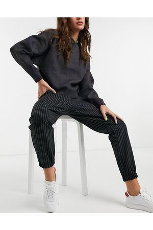 ASOS Hourglass woven jogger in pinstripe-Multi