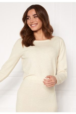 Guess Dame Gensere - Tanya Boat Neck Pullover F33 Oatmeal Heather S