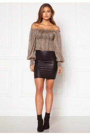 Pieces New Shiny HW Skirt Black S/M