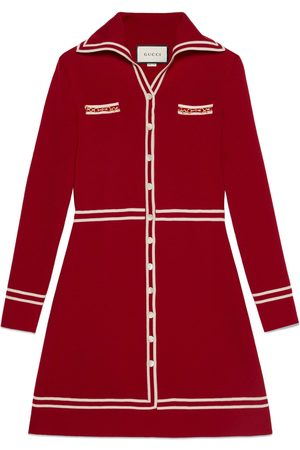 Gucci Wool dress with GG jacquard