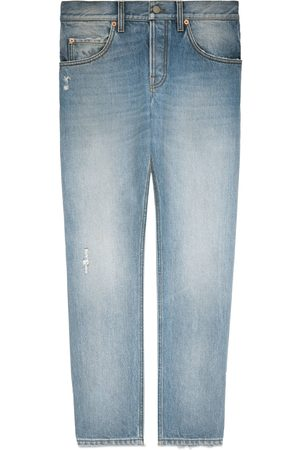 Gucci Tapered eco bleached denim jeans