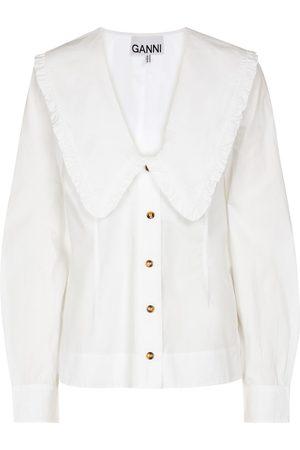 Ganni Dame Bluser - Cotton poplin blouse