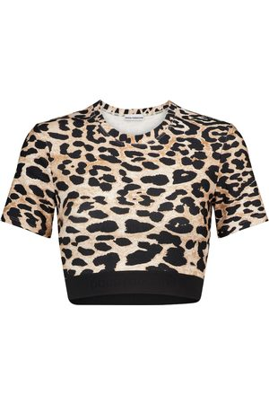 Paco rabanne Leopard-print stretch-jersey crop top