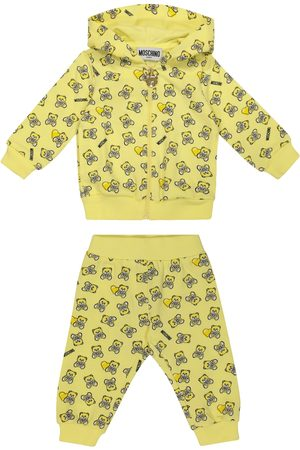 Moschino Sett - Baby printed stretch-cotton hoodie and pants