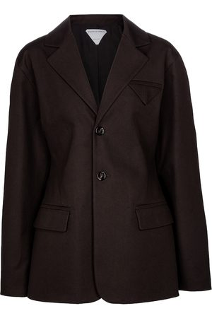 Bottega Veneta Single-breasted cotton jacket