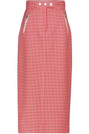 Miu Miu Houndstooth virgin wool pencil skirt