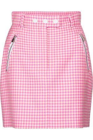 Miu Miu Gingham wool miniskirt
