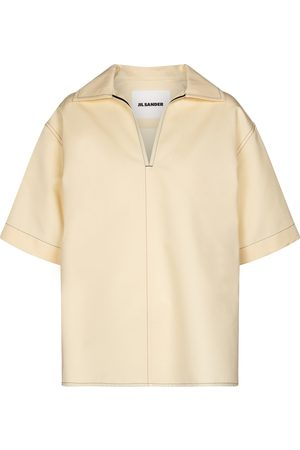 Jil Sander Cotton and silk top
