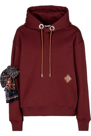 Chloé Embellished cotton hoodie