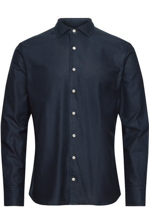 Hackett Herre Langermede - Plain Giro Inglese Skjorte Business