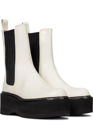 PARIS TEXAS Leather platform Chelsea boots